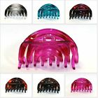 Oval Hair Clips 2-Tone Color 4 inch Jaw Accessory Plastic Woman Comb HC Claw Pin