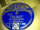 THE STREET SINGER WHERE ARE YOU  DECCA F6465