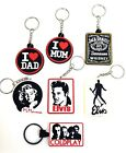 Elvis Marilyn Jack Daniels Celebrity Collectible 3D Rubber Keychain Keyring Car