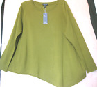 $238 BNWT EILEEN FISHER Italian Merino Jersey TOURMALINE Top Sweater 1X