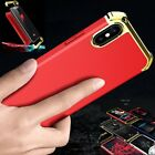 For iPhone X 10 Shockproof Electroplate Bumper Hybrid Armor Full Hard Cover Case