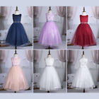 Kids Baby Flower Girl Dress Princess Party Sequined Wedding Bridesmaid 2-14Yrs