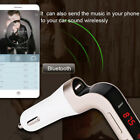 Car FM Transmitter Bluetooth Hands-free MP3 Player Radio Adapter 2A USB Charger