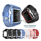 For Apple Watch Series 1/2/3 Rugged Protective Case Cover with Wrist Strap Bands image