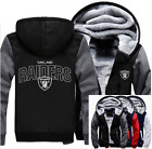 Winter Thicken Hoodie Team Oakland Raiders Warm Sweatshirt Lacer Zipper Jacket on eBay