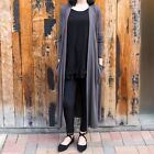 CHARCOAL KNIT CARDIGAN SWEATER DUSTER WITH SLOUCHY POCKETS WEAR WITH LEGGINGS