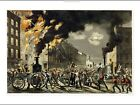 "CURRIER AND IVES ""Life Of A Fireman - NEW Era"" print various SIZES available"