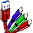 ✔ [3 PACK] MIcro USB Nylon Braided USB Data Sync Charger Charging Cable Cord