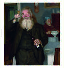 """RUSSIAN SCHOOL """"The Connoisseur"""" wine tasting CANVAS various SIZES available"""