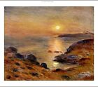 """PIERRE AUGUSTE RENOIR """"The Setting of the Sun at Douarnenez"""" TRANQUIL sea NEW!"""