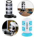 3M Extension Lead Cable Surge Protected Tower Power Socket with USB Port UK Plug