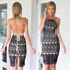 backless dresses uk - Stylish Ladies Women Spaghetti Strap Halter Backless Sexy Dress FV8801 01