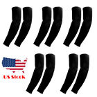 5 Pairs Cooling arm Black sleeve sunburn block UV for hiking basketball Protect