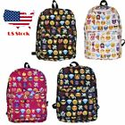 Emoji Backpack purse Cute Bag Heart Smiley School Bag Kid Children Women Red