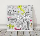 Italy Rome sketch artistic modern style printed framed canvas picture