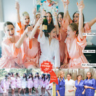 Women robe Silk Satin Robes Wedding Bridesmaid Bride Gown kimono Robe HOT*