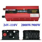 Portable Car LED Power Inverter WATT DC 12V Or 24V to AC 110V Charger Converter