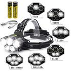 Rechargeable 80000LM 5 Modes 5-LED Headlamp Light Blue/White Light Charge by USB