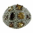 Brown Natural Zircon 3.67 Ct. Gorgeous Cocktail Festival Ring Solid Gold Jewelry