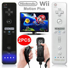 1x/2x Built in Motion Plus Remote and Nunchuck Controller for Nintendo Wii&Wii U