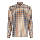 Aquascutum Shirt Long Sleeve York Club Check - Vicuna
