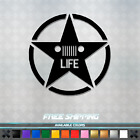 Jeep Life Vinyl Decal - Sticker Patriot Wrangler Cherokee US Star 007 $9.99 USD on eBay
