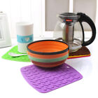 7colors Silicone Anti hot Insulation Pad Table Mat Waterproof Coaster Pop AU
