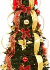 New Pre-lit * 6 Ft * Pop Up Pull Up Artificial Christmas Tree * Pre Decorated