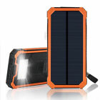 External 50000mAh Solar Power Bank 2USB 6LED Battery Charger For iPhone Samsung