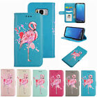 New Flamingo Pattern PU Leather Wallet Folio Flip Case Cover for Samsung S8 Plus