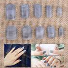 24pcs Grey Marble Designer False Nail Tips Finger Decoration Art Full Cover