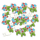 50xChristmas Craft Buttons Flatbacks for Scrapbooking Reindeer/Santa claus/Clown