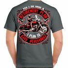 Mens Gray Biker Life T-Shirt - Retirement Plan To Go Riding - Motorcycle Shirts