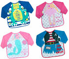 Baby Boys Girls Long Sleeve Feeding Apron Dribble Bib Babies Craft Play Paint