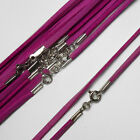 "18"" (46cm) Pink Soft Suede Cord Necklace with 925 Sterling Silver Clasp"