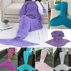 Various Colors Adult/Kid Shark Mermaid Tail Blanket Soft Snuggle-in Sleeping Bag