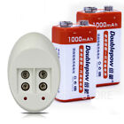 9v 1000mah Lsd Li-ion Rechargeable Battery Pack X 2pcs For Headlamp Bicycle Lamp