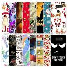 For LG V30 Christmas Soft TPU Case Cover 2018 New Year Tower Cat Butterfly Love