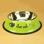 Stainless Dog Bowls Pets Cat Raised Bowl Feeder Water Feed Food Container CA
