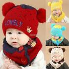 Baby Fashion Fleece Contrast Color Beanie Knitted Warm Winter Hat with N98B 01