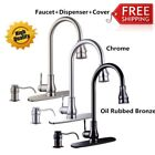 """16""""18'' Pull-Out Brushed Nickel Kitchen Sink Faucet Spray Sw"""