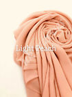 CHIFFON SCARF HIJAB SOFT HIGH QUALITY SARONG SHAWL MAXI PLAIN WRAP GEORGETTE <br/> ALL COLOURS AVAILABLE AND RESTOCKED