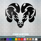 Dodge RAM Head Vinyl Decal - Sticker Mopar Hemi Truck Flames Cool Window 013 $7.99 USD on eBay