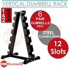 Vertical Dumbbell Rack 6 Pair Storage Hex Weight Stand Home Gym Fitness 1 2 Pack