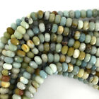 Faceted Amazonite Rondelle Beads Gemstone 15.5' 2mm 3mm 4mm 6mm 8mm 10mm 12mm