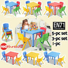 Childrens Table & Chairs Stackable Kids Plastic Furniture Play Indoor Outdoor pc