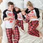 US STOCK Family Matching Christmas Pajamas Set Women Baby Kids Sleepwear Suit