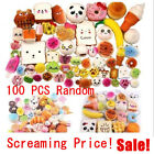 100x Fast food&Rilakkuma Squishy Charms Squeeze Slow Rising Toy Gift Dulcet LOT