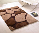 Modern Brown Thick Stone Soft Shaggy Rug Non Shed Modern Rug Hand Tufted Rugs
