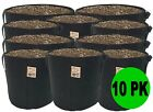10 Pack TH Choice Premium BLACK Fabric Pots Aeration Grow Bags *Free Shipping